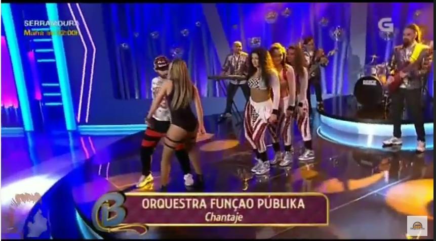 Função Públika - Programa Bamboleo com o tema - Chantaje da Shakira
